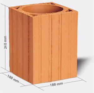 Pustak ceramiczny kominowy