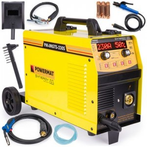 Migomat inwertorowy 230A MIG / MAG / MMA / LIFT-TIG PM-IMGTS-230S SYNERGY Dual Pulse Powermat