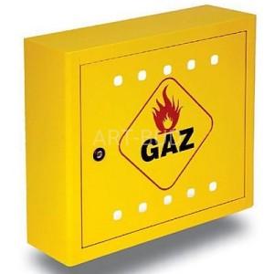 Masywnie Szafki gazowe, skrzynki: naścienne, plastikowe, aluminiowe, żółte DI95