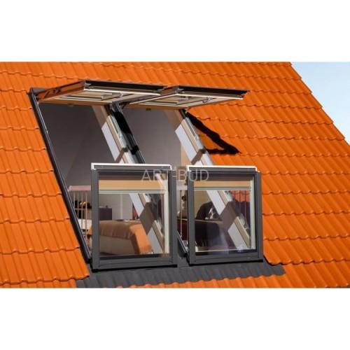 Wspaniały Okno balkonowe FGH-V P2 Galeria - Fakro. 94x255 cm - Artbud.pl PU81