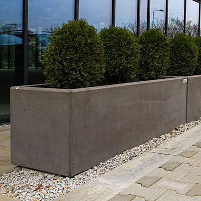 Chłodny Duża donica beton architektoniczny długość 170 cm REGINA Deco NV17