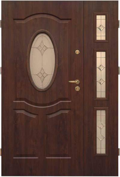 Masywnie Drzwi stalowe zewnętrzne KMT PLUS dwuskrzydłowe, ościeżnica 120 i OW25
