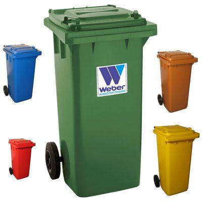 Ogromny Plastikowe pojemniki na śmieci pojemności 120 l z kółkami WEBER XR96