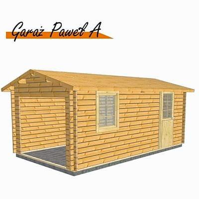 Garaż Drewniany Carport Paweł A 320 X 570 Cm 238 M2