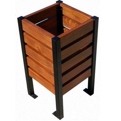 Niewiarygodnie Kosz na śmieci stalowo drewniany pojemność 35 - 45 l Modern OI78